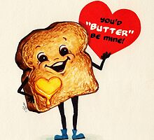 Valentine's Day! Toast Valentine by Kelly  Gilleran