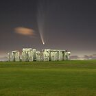Comet McNaught over Stonehenge by Anthony Caffery