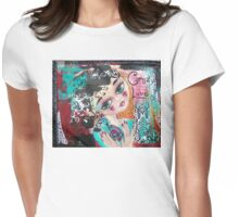 CRAZY LOVE Cat Artwork Adoption Advocacy  Womens Fitted T-Shirt