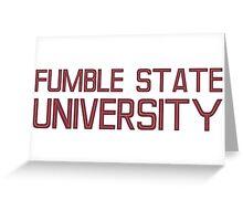 Fumble State University Greeting Card