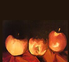 apple trio by Rosealeehiggins