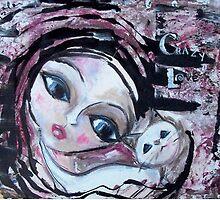 Cat Adoption Advocacy Folk Art Painting Loralai by LoralaiOriginal