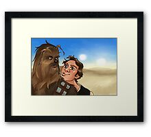 Star Wars selfie series: #5 Framed Print
