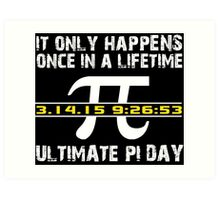 Amazing 'Ultimate Pi Day 2015 Gold' T-shirts, Hoodies, Accessories and Gifts Art Print