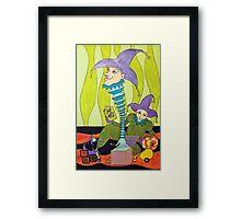 JOKES ON YOU Framed Print