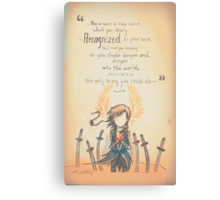 The Journey by Mary Oliver - [A Scribble] Canvas Print