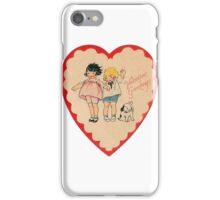 happy valentines day vintage old school love iPhone Case/Skin