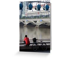 Singapore Cyclist  Greeting Card