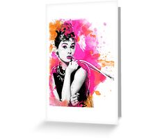 Audrey Hepburn digital watercolor Greeting Card
