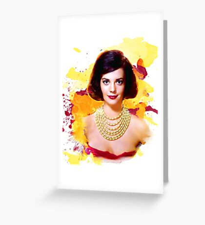 Natalie Wood watercolor digital Greeting Card