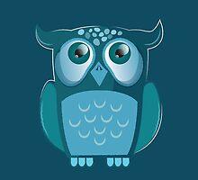 blue night owl by jazzydevil