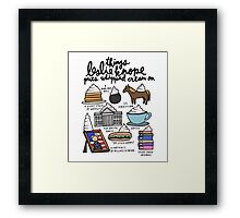 Thing Leslie Knope Puts Whipped Cream On Framed Print