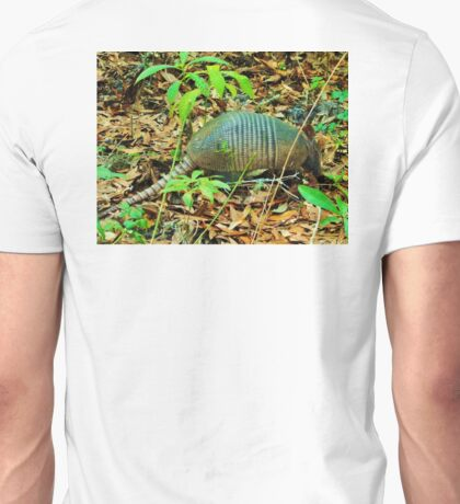 Anne Marie the Armadillo browsing for breakfast Unisex T-Shirt