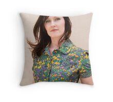 Sarah in a green dress Throw Pillow