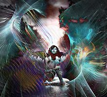 Fallen angel - Rose Moxon collaboration by helene