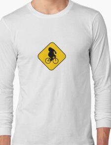 Beware of bike riding elephants Long Sleeve T-Shirt
