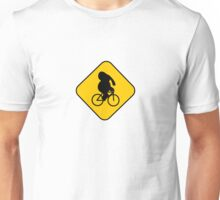 Beware of bike riding elephants Unisex T-Shirt