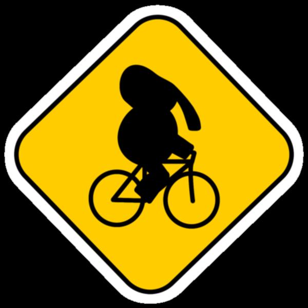 Beware of bike riding elephants by Gavin King