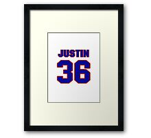 National football player Justin Griffith jersey 36 Framed Print