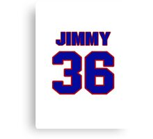 National football player Jimmy Hargrove jersey 36 Canvas Print