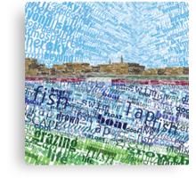 Typescape #1 Canvas Print
