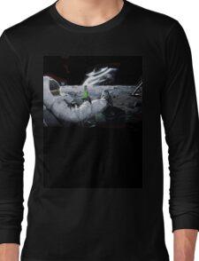 Earth From Moon Funny Sci-Fi Doom Long Sleeve T-Shirt