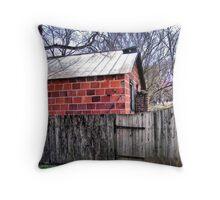 handmade brick Throw Pillow