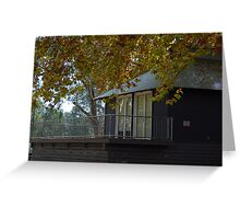 Autumn Boat House... Greeting Card