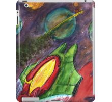 Space Ship Watercolor Painting iPad Case/Skin