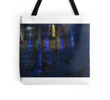 Christmas Lights on Ice Tote Bag