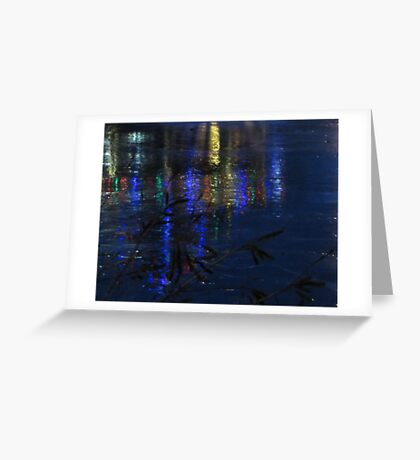 Christmas Lights on Ice Greeting Card