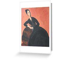Anna Zborowska (after Modigliani) Greeting Card