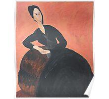 Anna Zborowska (after Modigliani) Poster