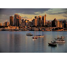 Gold & Blue- Moods Of A City # 11 - The HDR Series - Sydney Harbour, Sydney Australia Photographic Print