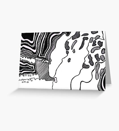 Black Abstract One Greeting Card
