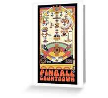 Pinball Countdown Greeting Card