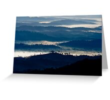 Clouds nestle among mountains in southern Bahia, Brazil Greeting Card