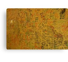 Cafe Wall in Little India, Singapore Canvas Print
