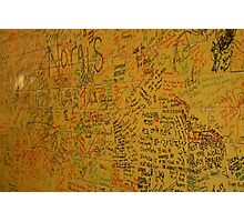 Cafe Wall in Little India, Singapore Photographic Print