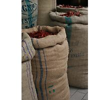 Chilli Sacks in Little India, Singapore Photographic Print