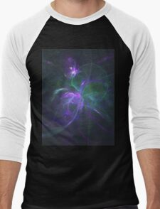 A Subtle Explination of the Fibbonocci Spiral of Life Generated By Complementary Frequencies of Life Men's Baseball ¾ T-Shirt