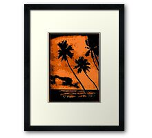 PERFECT Tropical Vacation! Framed Print