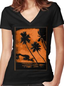 PERFECT Tropical Vacation! Women's Fitted V-Neck T-Shirt