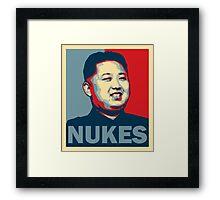 Kim Jong-un NUKES Framed Print
