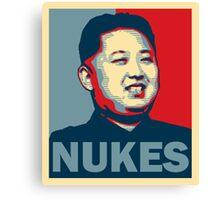 Kim Jong-un NUKES Canvas Print