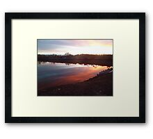 Chromatic Sky and Water Reflection Framed Print