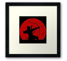 Oni Under Fire Framed Print