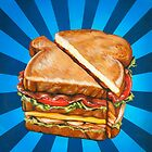 Turkey Club on White by Kelly  Gilleran