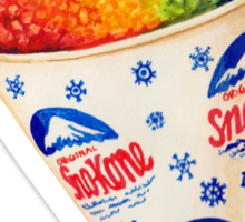 Snow Cone Pattern Sticker