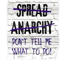 Spread Anarchy  Poster